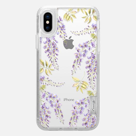 iPhone X 保护壳 - Wisteria blossom
