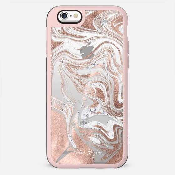 Rose Gold Marble Swirl by Nature Magick - New Standard Case