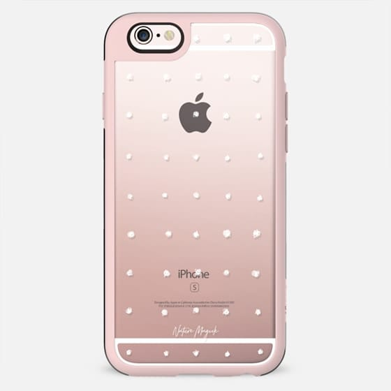 Dot Grid by Nature Magick - White + Clear - New Standard Case