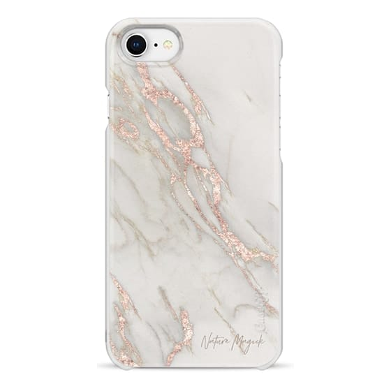 iPhone 6s Cases - Rose Gold Marble by Nature Magick