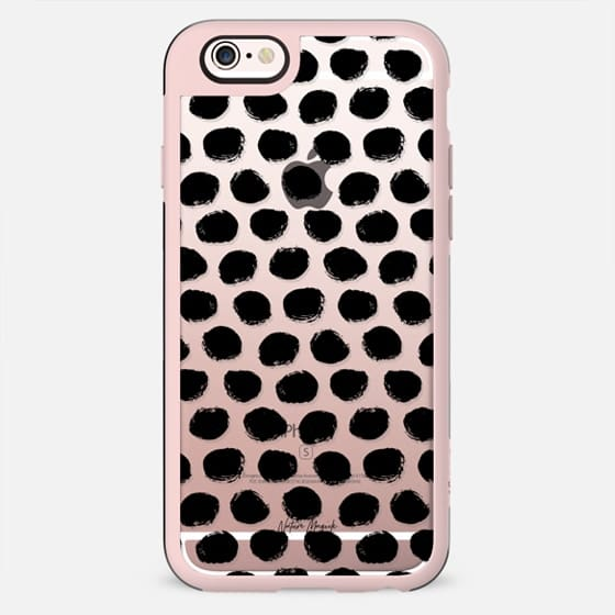 Polka Dots by Nature Magick - Black + Clear - New Standard Case