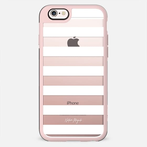 Simply Striped by Nature Magick - White + Clear - New Standard Case