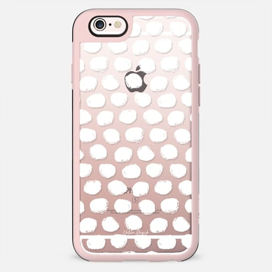 Polka Dots by Nature Magick - White + Clear - New Standard Case
