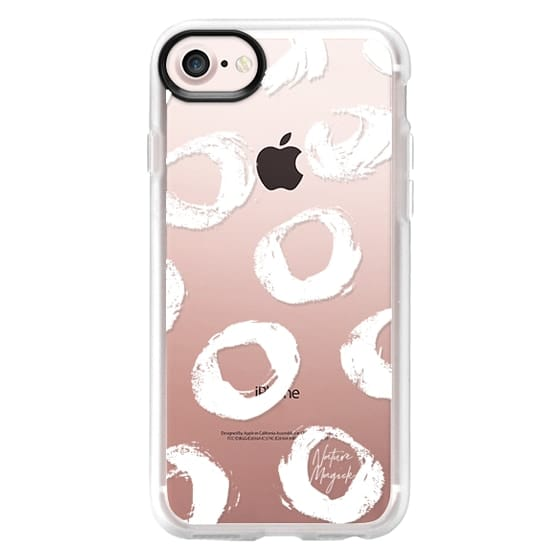 iPhone 7 Plus Cases - Chic Dots by Nature Magick - White + Clear