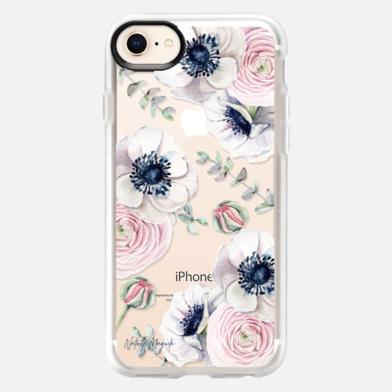 iPhone 8 保護殼 - Blossom Love by Nature Magick - Clear Case