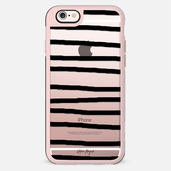 Drawn Stripes by Nature Magick - Black + Clear - New Standard Case