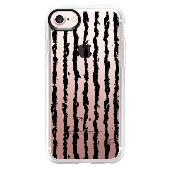 iPhone 6s Cases - Brushed Stripe by Nature Magick - Black + Clear