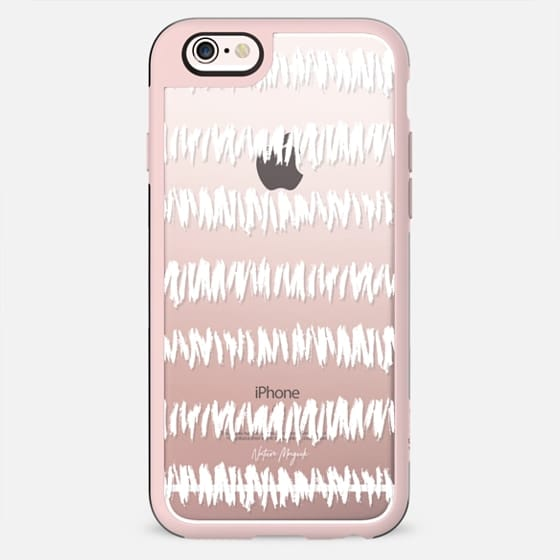 Tribal Stripe by Nature Magick - White + Clear - New Standard Case
