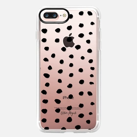Ink Dot by Nature Magick - Black + Clear - Classic Grip Case