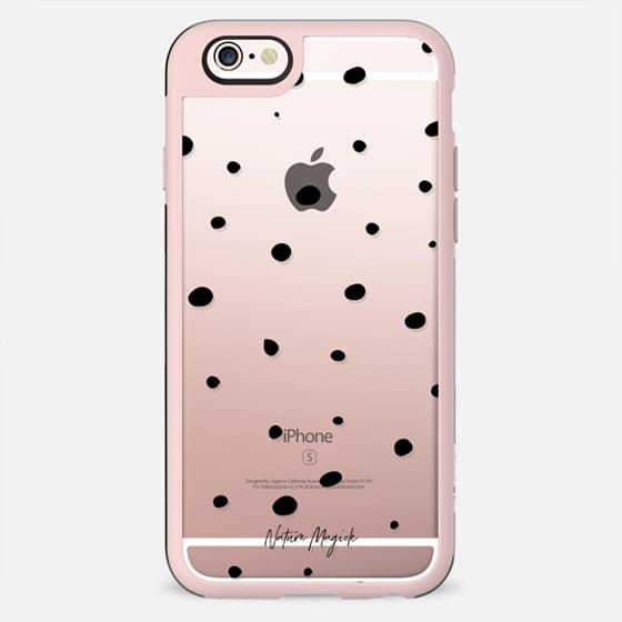 Scattered Dots by Nature Magick - Black + Clear - New Standard Case