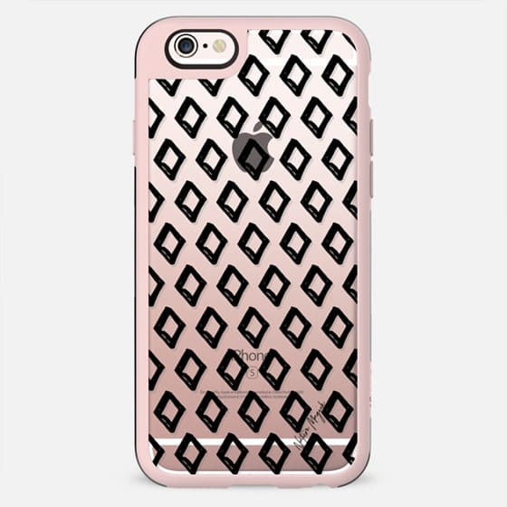 Diamond Love Pattern by Nature Magick - Black + Clear - New Standard Case
