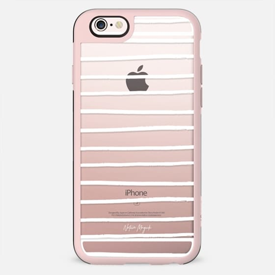 Preppy Stripe by Nature Magick - White + Clear - New Standard Case