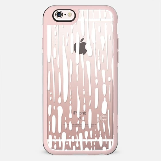 Seattle Rain by Nature Magick - White + Clear - New Standard Case