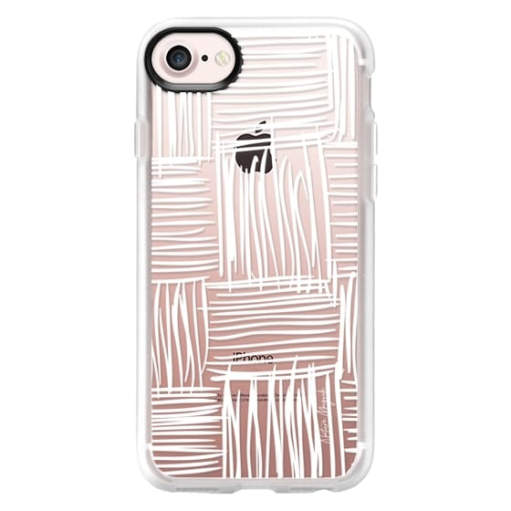 iPhone 6s Cases - Gridly by Nature Magick - White + Clear
