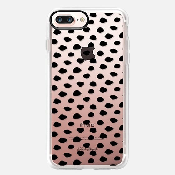 City Dots by Nature Magick - Black + Clear - Classic Grip Case