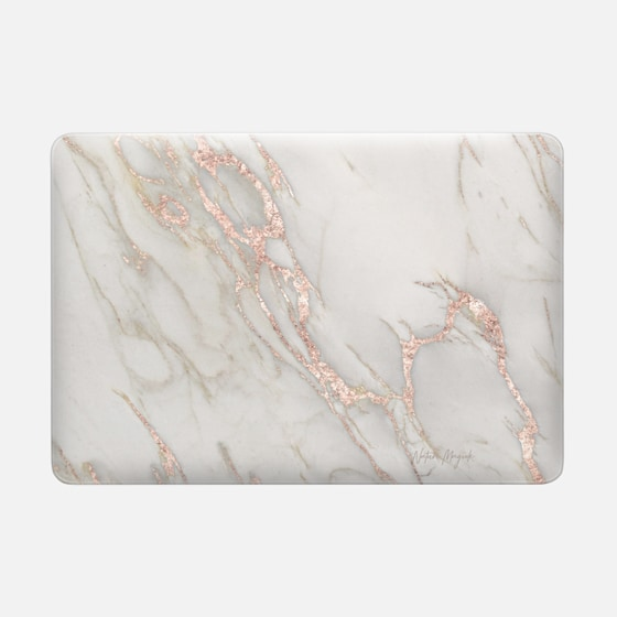 Macbook Air 13 Case - Rose Gold Marble 2 by Nature Magick