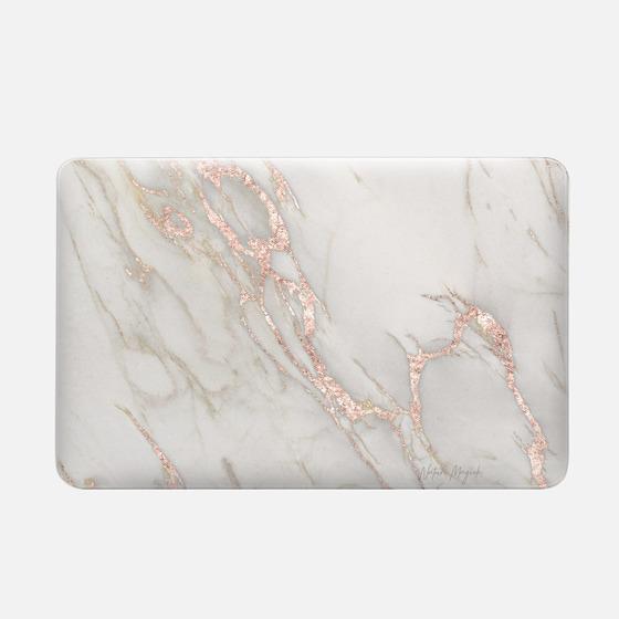 Macbook Air 11 Funda - Rose Gold Marble 2 by Nature Magick