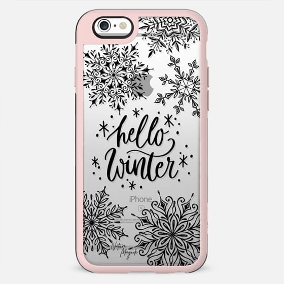 Hello Winter by Nature Magick - Black - New Standard Case
