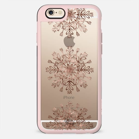 Rose Gold Snowflake by Nature Magick - New Standard Case