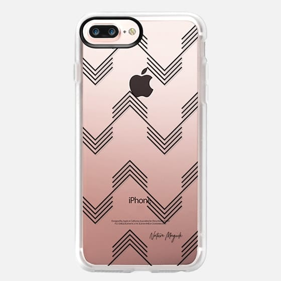 Deconstructed Chevron by Nature Magick - Black + Clear - Classic Grip Case