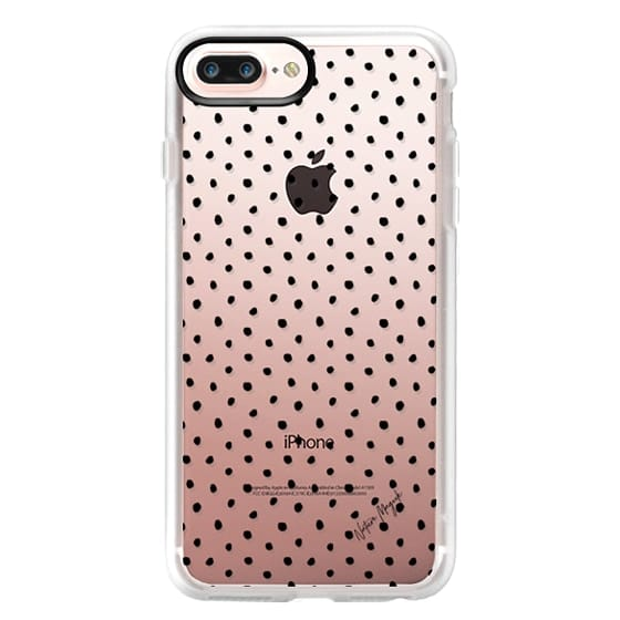 iPhone 6s Cases - Perfect Polka Dot by Nature Magick - Black + Clear