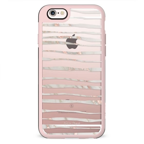 Brinley 2 by Nature Magick - Rose Gold White Marble + Clear