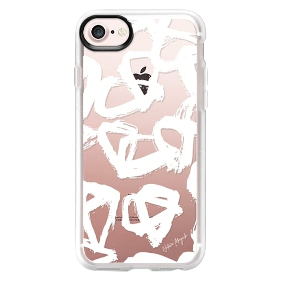iPhone 7 Plus Cases - Modern Twist by Nature Magick - White + Clear