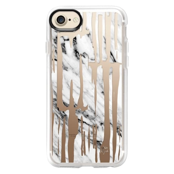 iPhone 6s Cases - Bamboo by Nature Magick - Real Black + White Marble