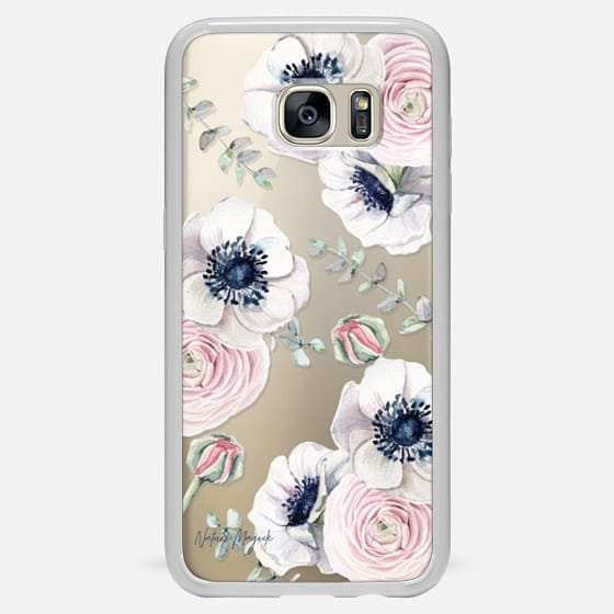 Galaxy S7 Edge เคส - Blossom Love by Nature Magick - Clear Case