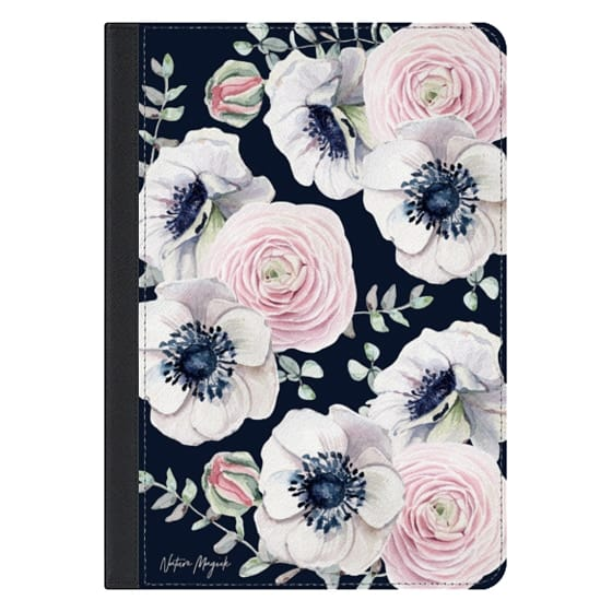 10.5-inch iPad Pro Covers - Navy Blossom Love by Nature Magick