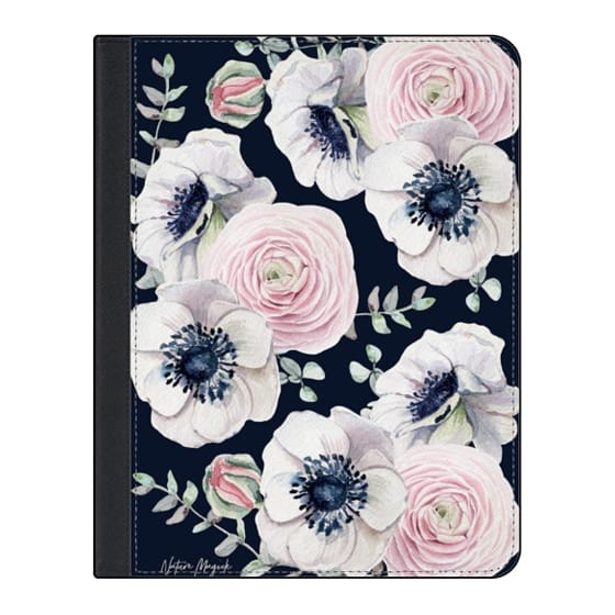 11-inch iPad Pro Covers - Navy Blossom Love by Nature Magick