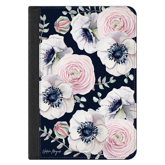 iPad Mini (2019) Covers - Navy Blossom Love by Nature Magick