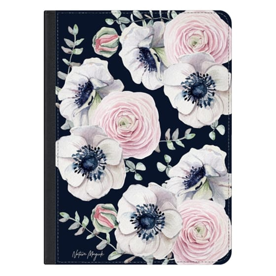 iPad Pro 12.9 Covers - Navy Blossom Love by Nature Magick