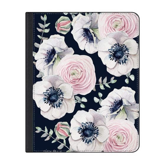 12.9-inch iPad Pro (2018) Covers - Navy Blossom Love by Nature Magick