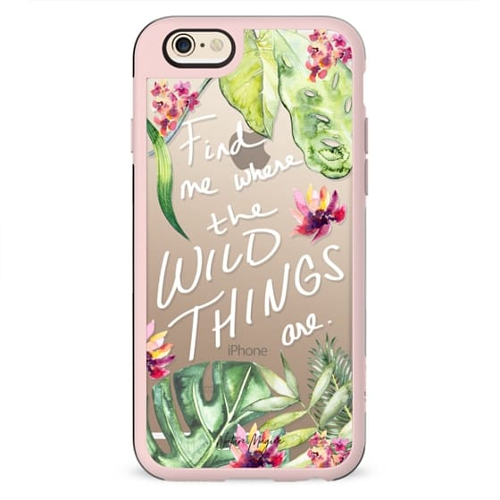 Find Me Where the Wild Things Are by Nature Magick - Tropical Flowers Quote