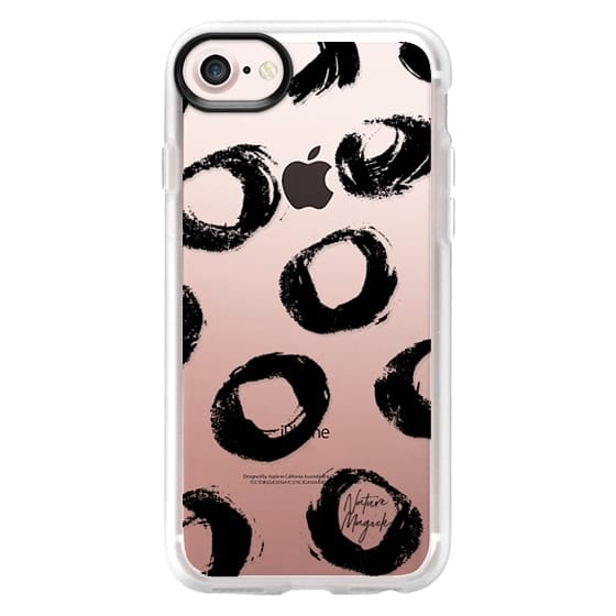 iPhone 6s Cases - Chic Dots by Nature Magick - Black + Clear