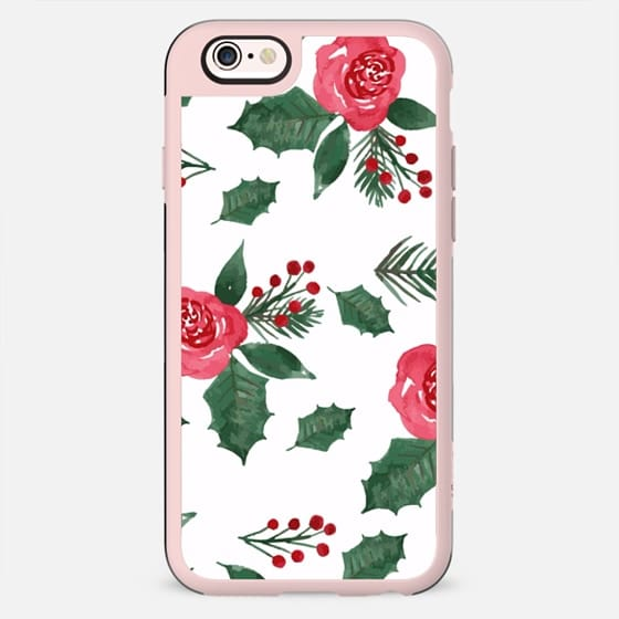 iPhone Case Christmas Holly & Berries - New Standard Case