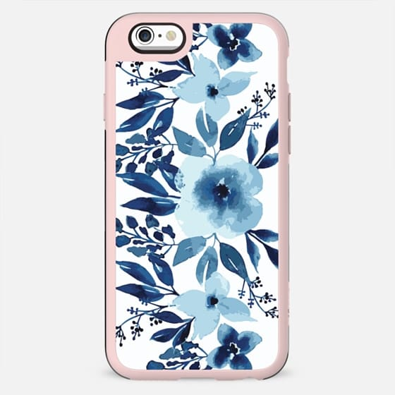 iPhone Phone case Blue White Floral - New Standard Case