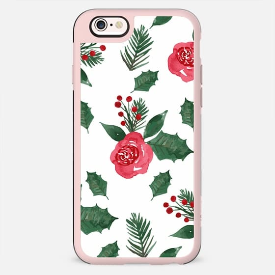 Android Phone Case Christmas Holly & Berries - New Standard Case