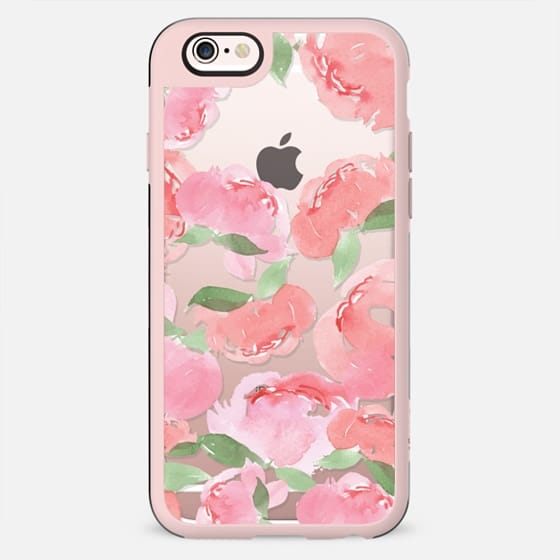 Android Phone Case Blush Peony Clear - New Standard Case