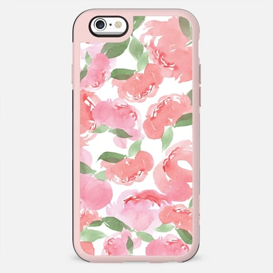 iPhone Case Blush Peony White - New Standard Case