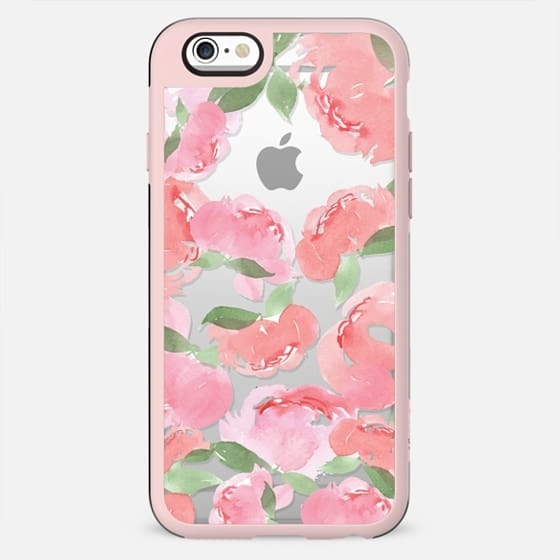 iPhone Case Blush Peony Watercolor - New Standard Case
