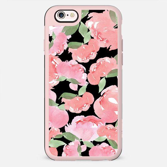 iPhone Case Blush Peony Black