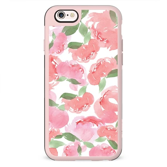 Android Phone Case Blush Peony White