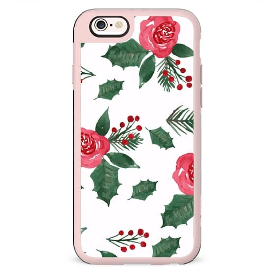 iPhone Case Christmas Holly & Berries