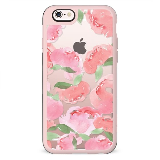 Android Phone Case Blush Peony Clear