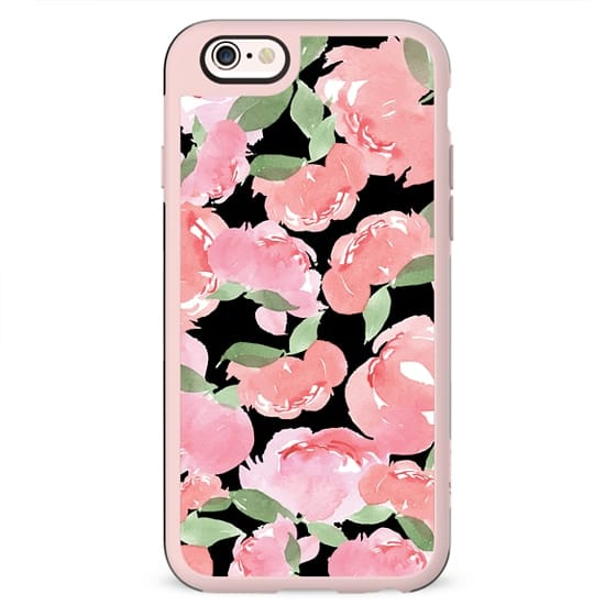 iPhone Case Blush Peony Black
