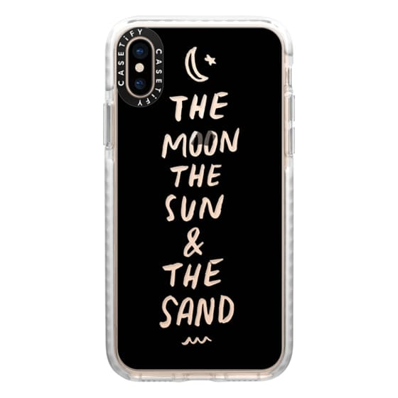 iPhone XS Cases - Moon and Sun 2 by Push Print Studio