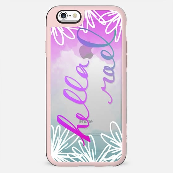 """Hella Rad"" Ombre Flower Printed Phone Case - New Standard Case"
