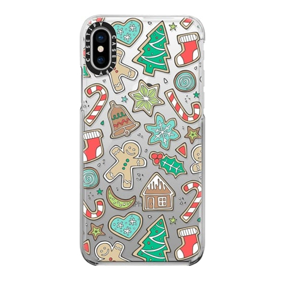 iPhone X Cases - Christmas Xmas Holiday Gingerbread Man Cookies Winter Candy Treats
